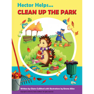 hector helps clean up withe park