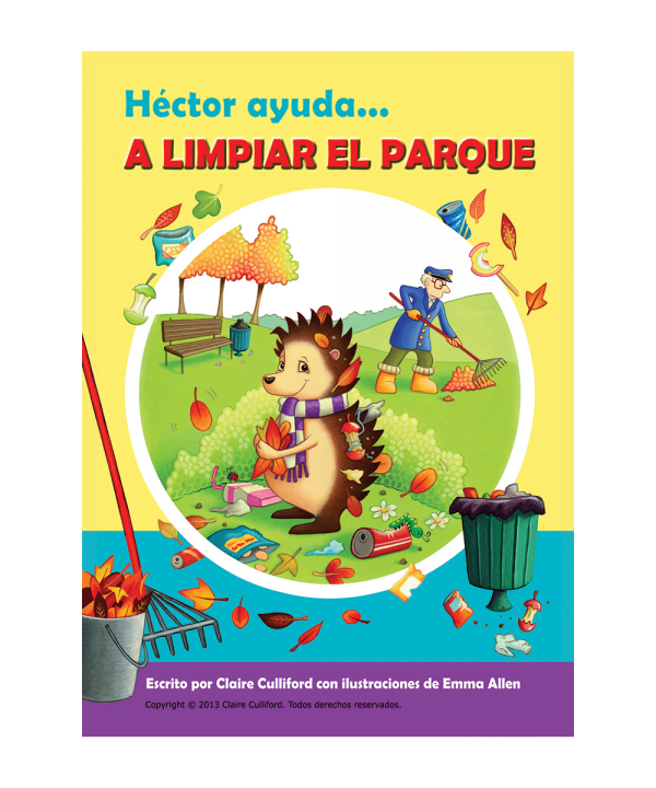 hector helps clean up the park spanish